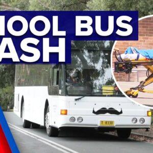 Children injured in Sydney school bus crash | 9 News Australia
