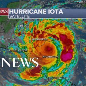 Hurricane Iota slams Central America as Category 4 storm