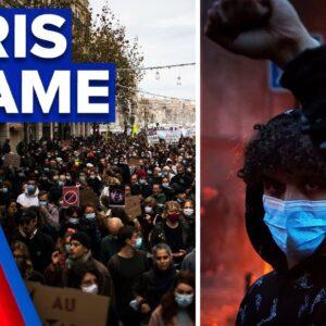 Protestors go head-to-head with police in Paris   9 News Australia