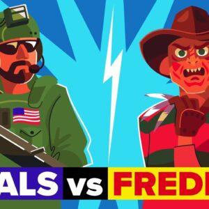 Navy SEALs vs Freddy Krueger (Nightmare on Elm Street Horror Movie) - Who Would Win?