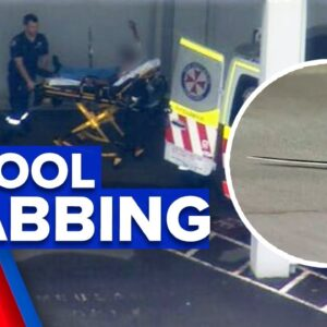 Student targeted in stabbing attack at high school   9 News Australia