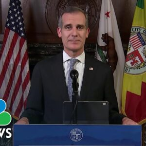 Los Angeles Mayor Warns City Could Be Out Of Hospital Beds By Christmas | NBC News NOW