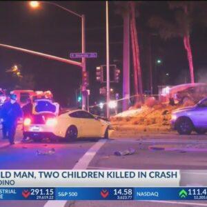 2 young boys, Bakersfield man killed in suspected DUI crash in San Bernardino; 2 other children inju