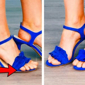 35 EASY WAYS TO IMPROVE YOUR SHOES    SMART GIRLY HACKS