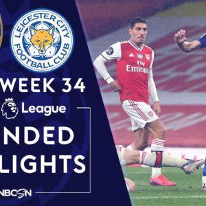 Arsenal v. Leicester City   PREMIER LEAGUE HIGHLIGHTS   7/7/2020   NBC Sports