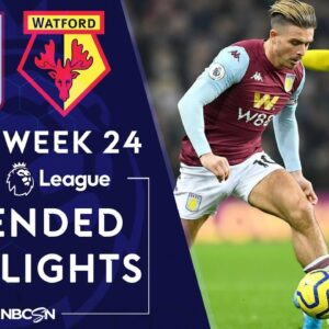 Aston Villa v. Watford   PREMIER LEAGUE HIGHLIGHTS   1/21/2020   NBC Sports