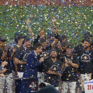 The Houston Astros celebrate 2019 American League Pennant, Altuve named MVP | FOX MLB
