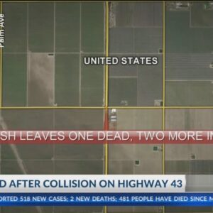 At least 1 dead following collision along Hwy 43 west of McFarland