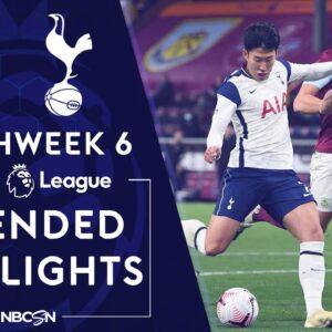 Burnley v. Tottenham | PREMIER LEAGUE HIGHLIGHTS | 10/26/2020 | NBC Sports