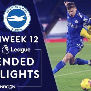 Leicester City v. Brighton | PREMIER LEAGUE HIGHLIGHTS | 12/13/2020 | NBC Sports