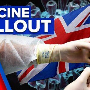 Coronavirus: Pfizer vaccine rolled across UK | 9 News Australia