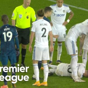 Nicolas Pepe headbutts Ezgjan Alioski, receives red card   Premier League   NBC Sports