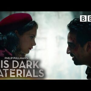 Behind the Scenes: Lee Scoresby and Mrs Coulter's showdown!   His Dark Materials - BBC