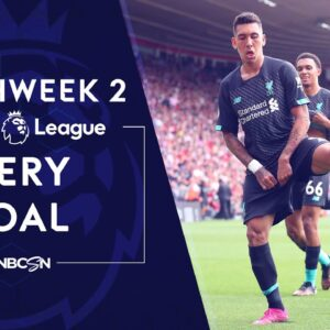 Every goal from Premier League 2019/20 Matchweek 2   NBC Sports