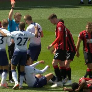 Son Heung-Min given red card for shove against Bournemouth   Premier League   NBC Sports