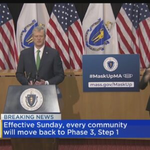Massachusetts Will Move Back To Phase 3 Step 1 Of Reopening Amid COVID Surge