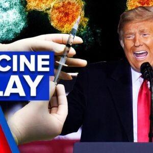 Coronavirus: Trump blamed for vaccine rollout falling behind schedule | 9 News Australia