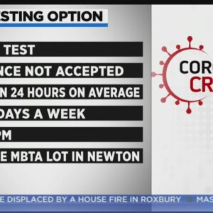 New COVID Testing Site Opens In At Riverside MBTA Lot In Newton
