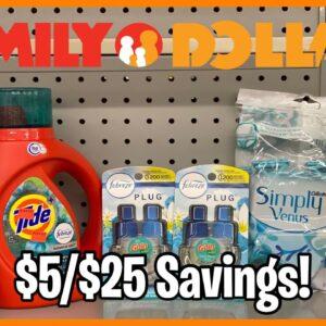 Family Dollar   $5/$25 Savings   Reduced Tide & Gain   10 Breakdowns Under $9!!   NOW - UNTIL 10/17