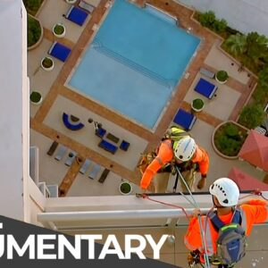 Fearless Workers in Great Height: Cleaning a Giant Mirror | Free Documentary