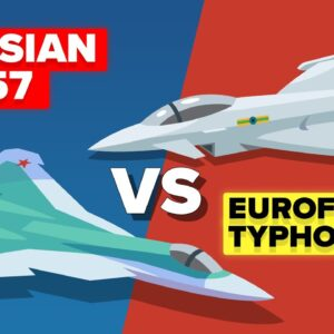 Russian SU-57 vs Eurofighter Typhoon - Which Fighter Jet Wins?