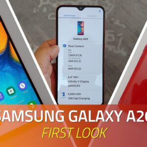 Samsung Galaxy A20 First Look   Specs, Camera, Price, and More