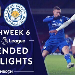 Arsenal v. Leicester City | PREMIER LEAGUE HIGHLIGHTS | 10/25/2020 | NBC Sports