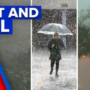 Severe storms lash Queensland following heatwave   9 News Australia