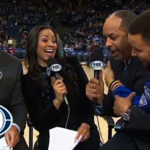 Stephen Curry videobombs dad during pregame