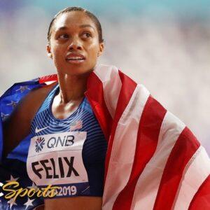 USA dominates in first mixed 4x400 relay, Allyson Felix breaks Usain Bolt's record | NBC Sports