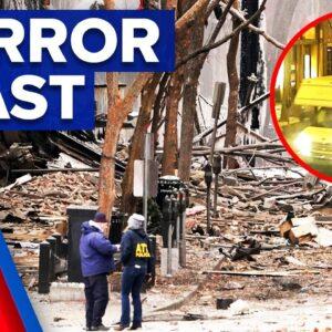 Van explosion in Nashville believed to be intentional | 9 News Australia