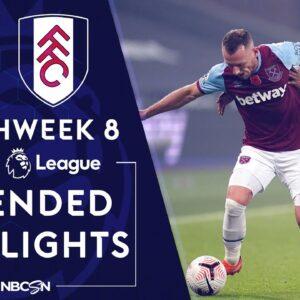West Ham v. Fulham | PREMIER LEAGUE HIGHLIGHTS | 11/7/2020 | NBC Sports