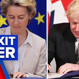 Britain's Brexit successfully exits European Union | 9 News Australia