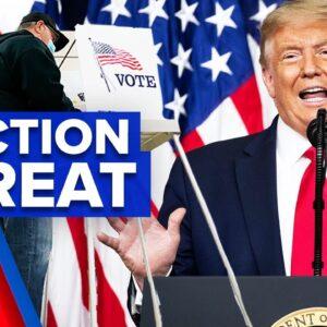 Leaked phone call reveals Trump's election threat | 9 News Australia