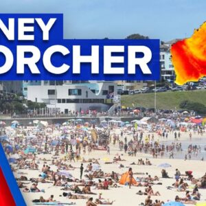 Severe heatwave intensifies across Sydney | 9 News Australia