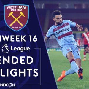 Southampton v. West Ham | PREMIER LEAGUE HIGHLIGHTS | 12/29/2020 | NBC Sports