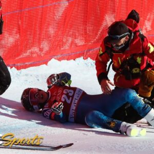 Four BRUTAL crashes on treacherous day at Val d'Isere downhill   NBC Sports
