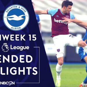 West Ham v. Brighton | PREMIER LEAGUE HIGHLIGHTS | 12/27/2020 | NBC Sports