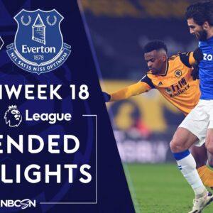 Wolves v. Everton | PREMIER LEAGUE HIGHLIGHTS | 1/12/2021 | NBC Sports