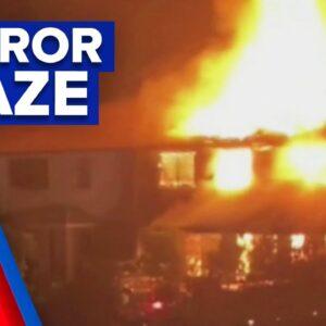 Unit blaze suspected of domestic violence attack | 9 News Australia