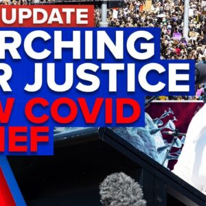 Thousands march in March 4 Justice protests, No new cases after NSW hotel case | 9 News Australia