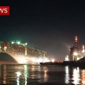 BREAKING: Suez Canal ship 'partially refloated'