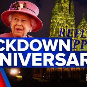 Coronavirus: Britain pauses for anniversary of first lockdown | 9 News Australia