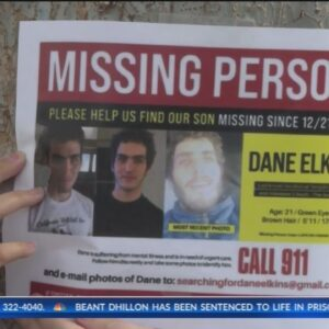 Search party looks for missing college student Dane Elkins in Bakersfield