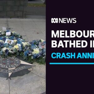 Vic Police community grieves four fallen officers on anniversary of Eastern Freeway crash | ABC News