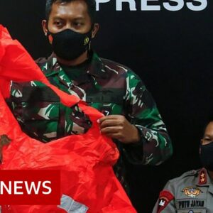 Indonesian navy submarine found split into three on sea bed - BBC News
