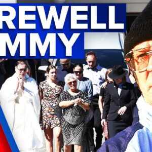 Rugby league great farewelled at memorial | 9 News Australia